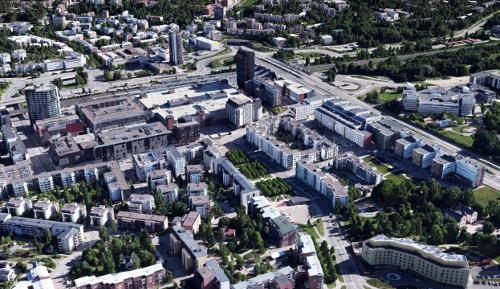 Espoo Meshmodel 2017 from Leppävaara